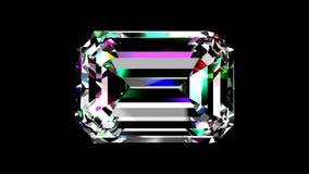 Émeraude de diamant bouclé Alpha matte banque de vidéos