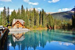 Émeraude de lac Images libres de droits