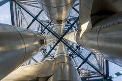 Émet de la vapeur l'installation - centrale de centrale à charbon Photos stock