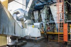 Émet de la vapeur l'installation - centrale de centrale à charbon Photos libres de droits