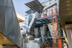 Émet de la vapeur l'installation - centrale de centrale à charbon Image stock