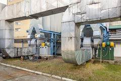 Émet de la vapeur l'installation - Pologne. Images stock