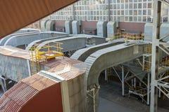 Émet de la vapeur le canal - centrale  Image stock