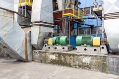 Émet de la vapeur le système de ventilateurs Photo stock