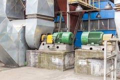 Émet de la vapeur le système de ventilateurs Images libres de droits