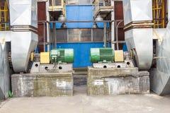 Émet de la vapeur le système de ventilateurs Photos stock