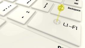 Émetteur de Lifi sur le clavier Photographie stock
