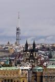 Émetteur de TV à Prague Images libres de droits