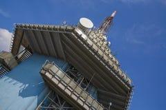 Émetteur de TV et de GSM dans Nitra Image stock