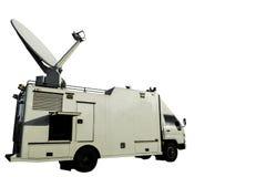Émetteur de TV sur une voiture pour des journalistes Photo stock