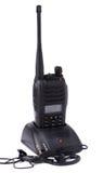 Émetteur et écouteur portatifs de radio UHF Photos libres de droits