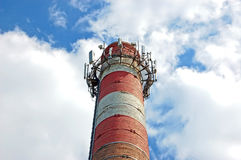 Émetteur récepteur sur la cheminée Photos libres de droits