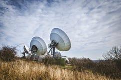 Émetteur satellite énorme Photo libre de droits