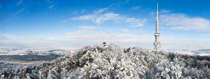 Émetteur sur la montagne de Sleza Image stock