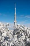 Émetteur sur la montagne de Sleza Photo stock