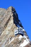 Émetteurs et récepteurs sur la montagne de Jungfrau Images libres de droits