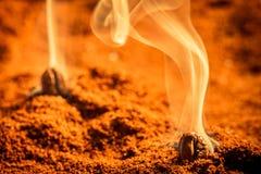 Émettre d'arome de café rôti par texture Images stock