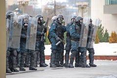 Émeute en Lithuanie Photos libres de droits
