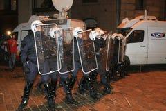 Émeute letton Photographie stock