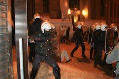Émeute letton Images libres de droits