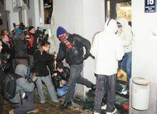 Émeute letton Images stock