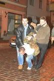 Émeute letton Image libre de droits