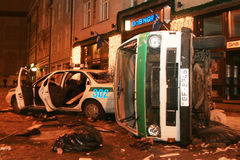 Émeute letton Photo stock
