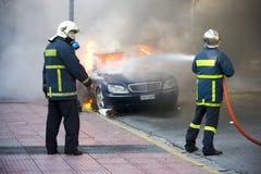 Émeutes à Athènes 18_12_08 Photo libre de droits