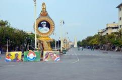 Émeutes à Bangkok en 2014 Photographie stock libre de droits