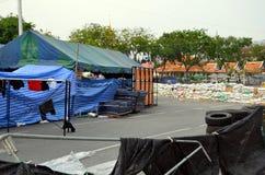 Émeutes à Bangkok en 2014 Photos libres de droits