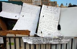 Émeutes à Barcelone en juin 2011 Photographie stock libre de droits