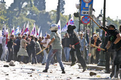 Émeutes Photos libres de droits