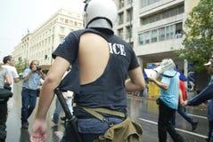 Émeutes d'Athènes, rassemblement d'étudiants, 2006 Image stock