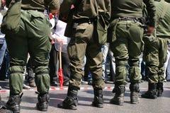 Émeutes d'Athènes, rassemblement d'étudiants, 2006 Image libre de droits