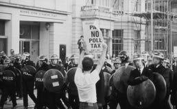 Émeutes d'impôt local forfaitaire, Londres Photo stock
