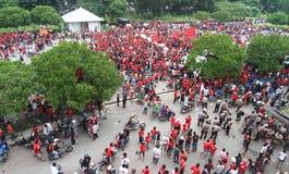 Émeutes de défenseur du football Image stock