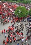 Émeutes de défenseur du football Photos stock