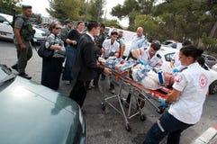 Émeutes de Jérusalem est Photo stock