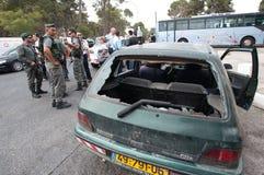 Émeutes de Jérusalem est Image stock