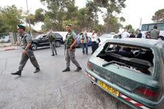 Émeutes de Jérusalem est Photographie stock