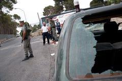 Émeutes de Jérusalem est Image libre de droits