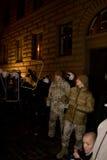 Émeutes et police Photos stock