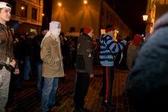 Émeutes et police Photo stock