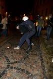 Émeutes et police Photos libres de droits