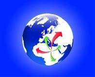Émigration de Libye illustration libre de droits