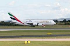 Émirats A380 Photos stock