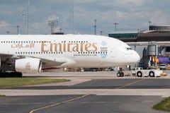 Émirats A380 Images stock