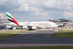 Émirats A380 Images libres de droits