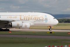 Émirats A380 Photographie stock libre de droits