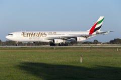 Émirats Airbus A340 Image libre de droits